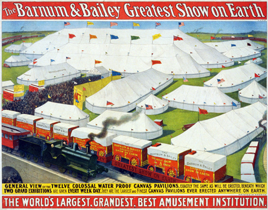 General view of the twelve colossal water proof canvas pavilions