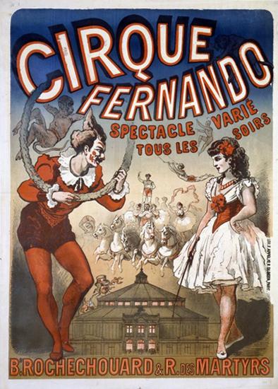 Les cirques dans les affiches