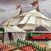 Set-up day at the circus