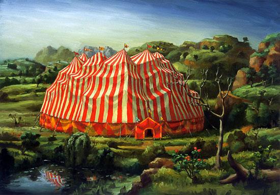 Les cirques dans la peinture